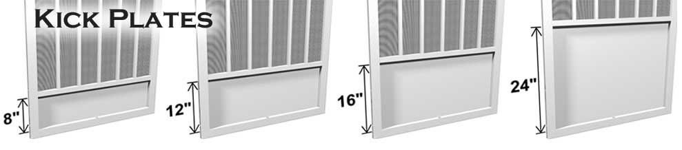 Kick Plates Aluminum Screen Doors Screened In Patio