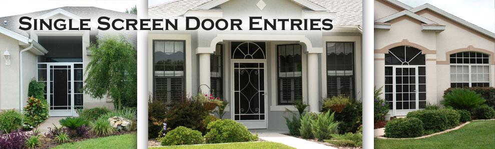front door screensEntry Doors With Screens Repaint front door black add old school